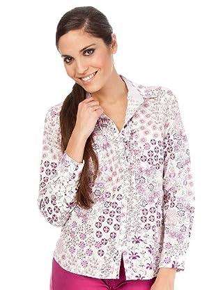 Cortefiel Camisa Estampada Flor (Lila)