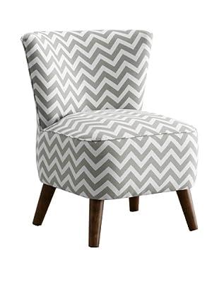 Skyline Furniture Modern Chair, Zig Zag Ash-White