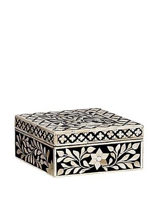 Mela Artisans Imperial Beauty Square Box, Black/White