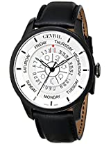 Gevril Men's 2005 Columbus Circle Analog Display Automatic Self Wind Black Watch