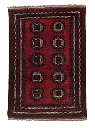 eCarpet Gallery One-of-a-Kind Hand-Knotted Khal Mohammadi Rug, Black/Red, 3' 10