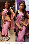 Bollywood Replica Shraddha Das 60 GM Georgette Saree In Baby Pink Colour - 317