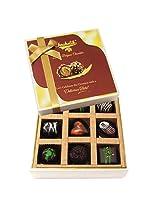 9pc Attractive Treat Of Dark Chocolate Box - Chocholik Belgium Chocolates