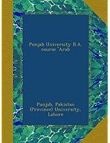 Punjab University B.A. course 'Arab