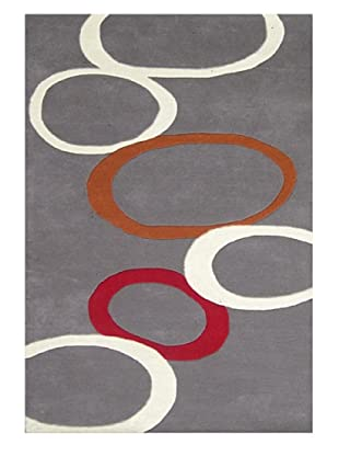Horizon Circles Rug (Grey/Orange/Cream/Red)