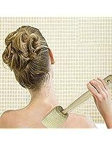 Natural Sponge Wooden Body Bath Massage Brushes Long Handle Back Cleaning Shower Scrubber