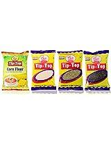 Tip-Top Corn Flour (500 gms), Coconut Powder (100 gms), Sounf (100 gms), Pepper (100 gms), Combo Pack of 4