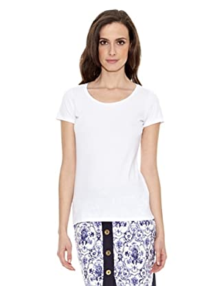 Cortefiel Camiseta Básica (Blanco)