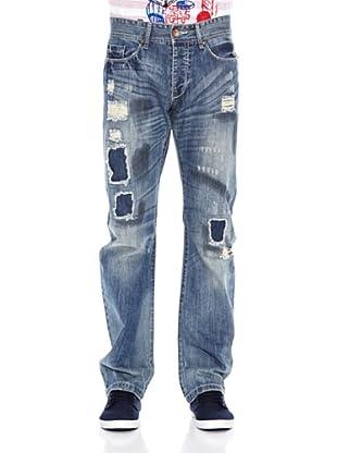 Desigual Pantalón Bob Rep (Azul)