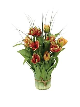 Winward Faux Leaf Vase Tulip, Multi