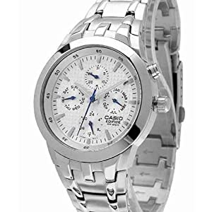Casio Analogue Watch EF-312D-7AVDF for Men - White