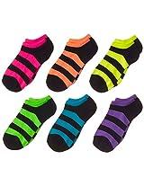 K. Bell Socks Little Girls' Stripes 6 Pack NS