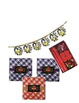 Skylofts Chocolate check boxes (pack of 3) with beautiful diya candle set & a bandanwaar Diwali combo