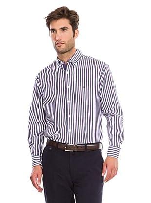 Pedro del Hierro Camisa Fantasía Rayas (Violeta / Blanco)