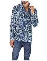 Rajrang Indian ethnic wear Hand Block Printed Men's Shirt Size XL