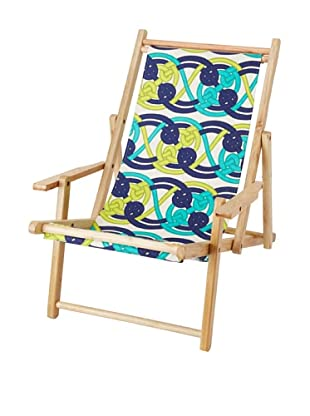Julie Brown Reversible Beach Chair, Navy Voyage/Navy Skipper