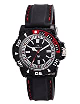 Maxima Hybrid Analog White and Black Dial Men's Watch - 29742PPGW