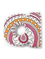 "One Grace Place Sophia Lolita Letter Pillow ""A"", White, Pink, Berry, Orange, Black"