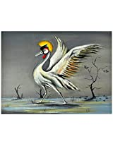 Liflad Artmart Acrylic and Canvas The Bird Painting (61 cm x 61 cm)