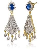 Ava American Diamond Dangler Earrings for Women (Gold) (E-B-CPE1167)