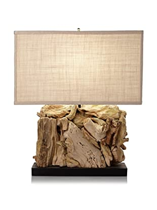 Lighting Accents Driftwood Rectangle Table Lamp