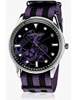 Eh 1119 Pu Two Tone/Black Analog Watch Ed Hardy