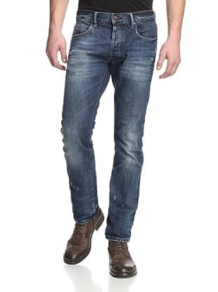 Rockstar Denim Men's Slim Fit 5 Pocket Jeans (Dark Tint)