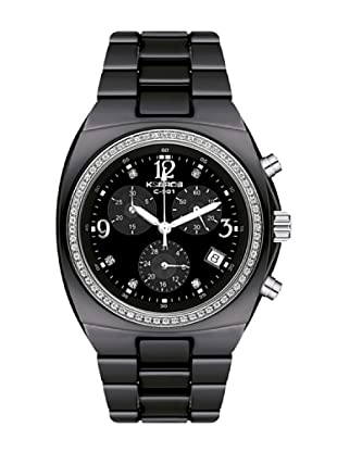 K&BROS 9141-1 / Reloj de Señora  con brazalete metálico negro
