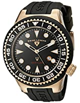 Swiss Legend Men's 21818D-RG-01-NB Neptune Black Dial Black Silicone Watch