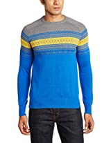 Status Quo Men's Round Neck Cotton Sweater