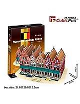 CubicFun 3D Puzzle 45 Pieces: Bruges Markt Grand Place