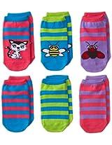 K. Bell Socks Little Girls' 3 Pack of No Shows