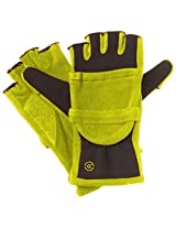 Isotoner Women's Hybrid Convertible Fingerless Glove (One Size, Lime Punch)