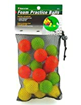 Jef World of Golf Gifts and Gallery, Inc. Foam Practice Balls (Multi-Color, Set of 18)