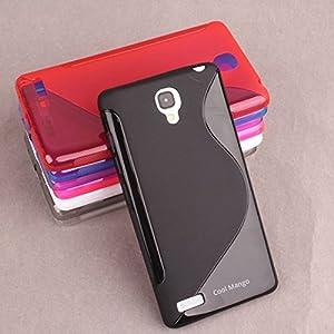 Premium S-Line TPU Case / Cover for Xiaomi Redmi Note (Dual Sim & 4g Models) - Black : by Cool Mango (TM)