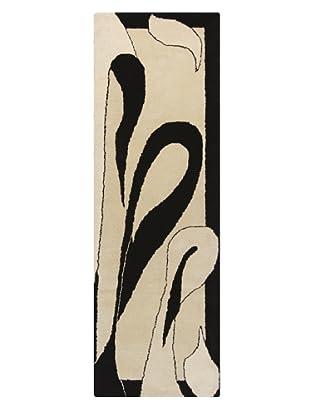 Chandra Daisa Rug, White/Black, 2' 6