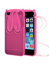 AMZER TPU Case With Rabbit Ears - Pink for iPhone 5
