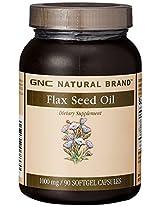 GNC Flax Seed Oil 1000 mg - 90 Softgel Capsules