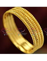 2.6 Size 4 Pieces Casual Wear Gold Plated Design Bangles Online