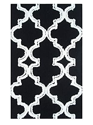 Pop Accents Jafar Indoor/Outdoor Scatter Rug, Black/White, 22