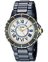 a_line Watches, Women's Marina Silver Dial Gold Accents Blue Ceramic, Model 20040-NBWYR