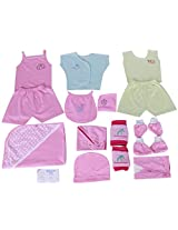 Jo Kids Wear Gift Pack For Boy Baby(0-3 Months)(Pink)