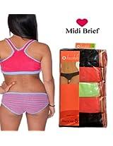 Seasons Hushh Pack Of 5 Midi Brief Panties B110B1103MA_Multi
