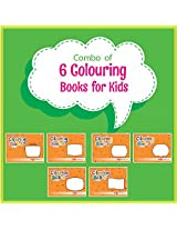 Colouring Books for Kids (Pack of 6 Books)