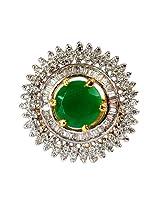 Alkafashionjewels Metal Ring For Women (Green)