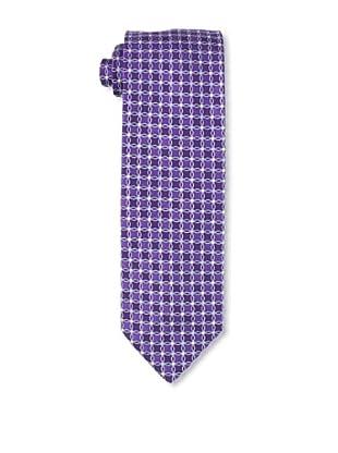 Massimo Bizzocchi Men's Square Pattern Tie, Purple