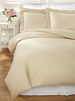 400 TC Percale Duvet Set (Taupe)
