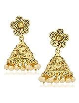 Jhumka Earrings For Women Girls in traditional Ethnic Pearl Earings By Meenaz J121