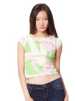 Custo T-Shirt (Rosa/Gelb)