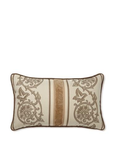 Elsa Blue Scrollwork Lumbar Indoor/Outdoor Pillow, 12